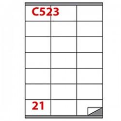 Etichetta adesiva C/523...