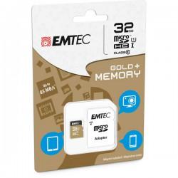 MICRO SDHC EMTEC 32GB GOLD...