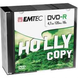 DVD-R EMTEC 4,7GB 16X SLIM...