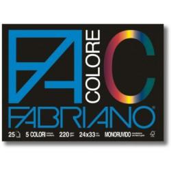 BLOCCO FABRIANO COLORE 33X48