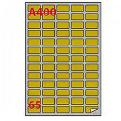 Etichetta adesiva A/400 oro...