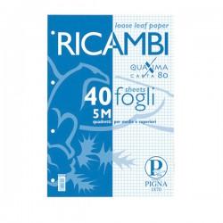 RICAMBI FORATI A5 5MM 80GR...